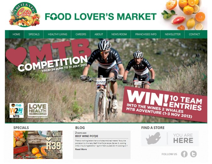 Food Lovers Market Website