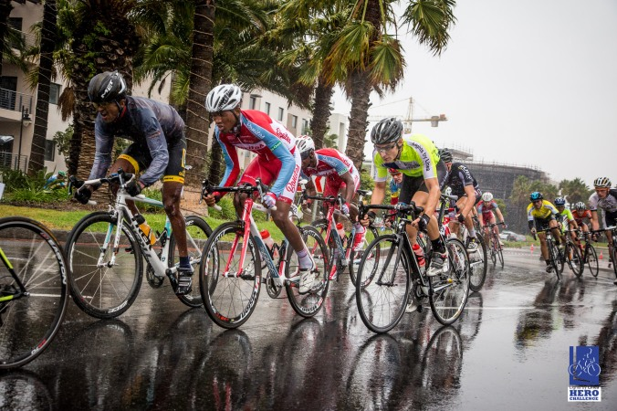 Cyclists compete in round 4 of the Lights By Linea, Hero Challenge cycling series